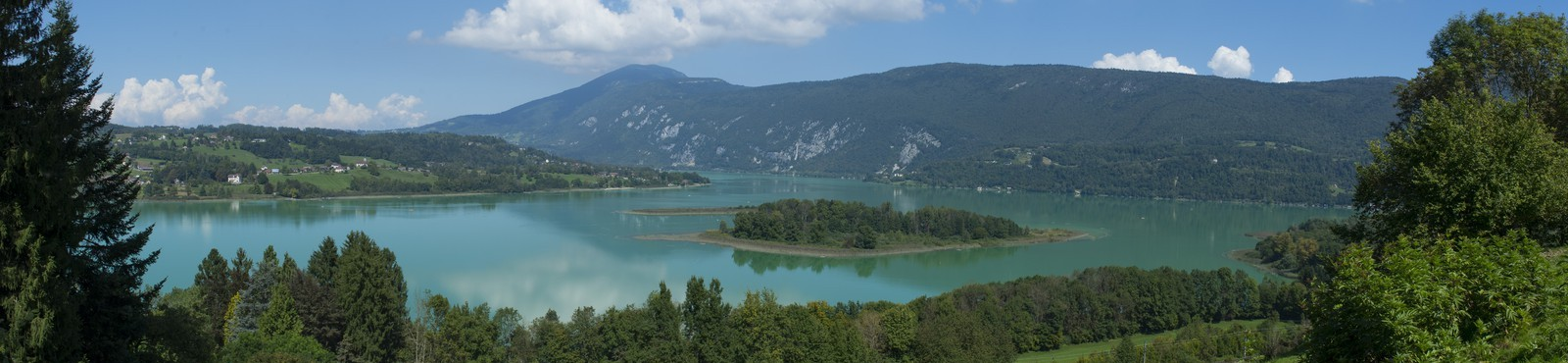 Panoramic Aiguebelette Lake
