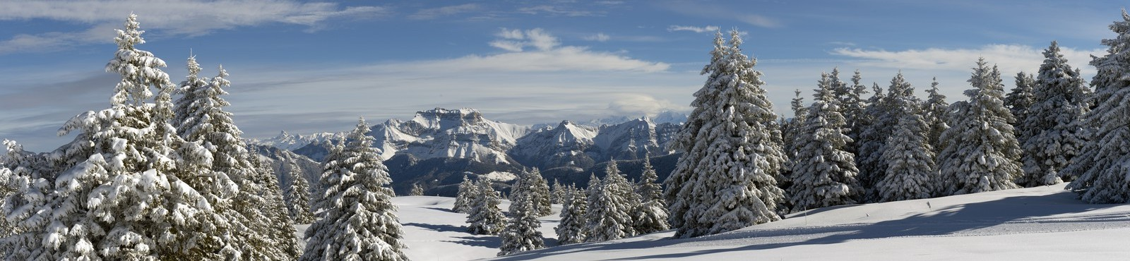 Panoramic view snow France
